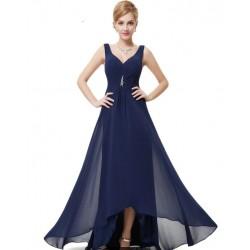 Vestido largo azul 3005