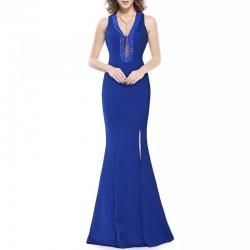 Vestido Largo azul electrico 3010