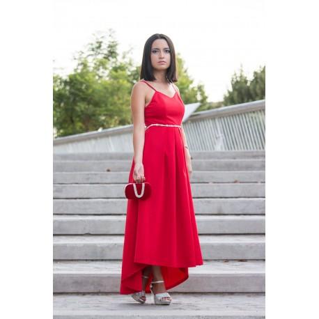 Vestido largo rojo 3011