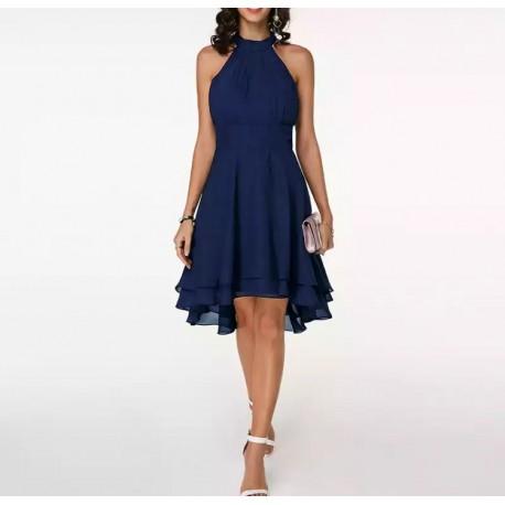 Vestido corto azul marino